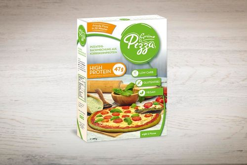 Grüne Pizza Backmischung 200g, Low Carb, High Protein